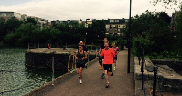 A lunch time run at the Shadwell Basin