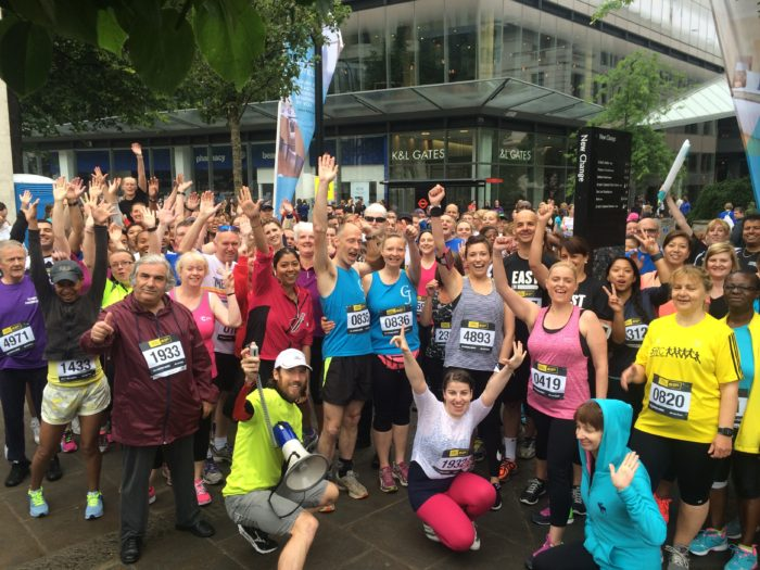Runners gather at the City of London Mile