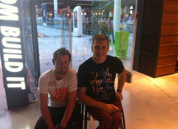 David meets Paralympic legend David Weir