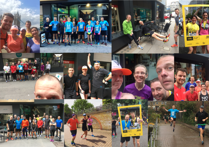 Run Club 2016 photo collage