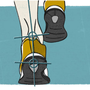 Illustration of runners legs being gait analysed