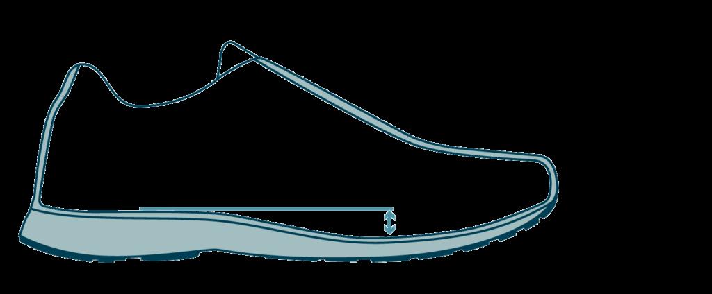 heel drop running shoes