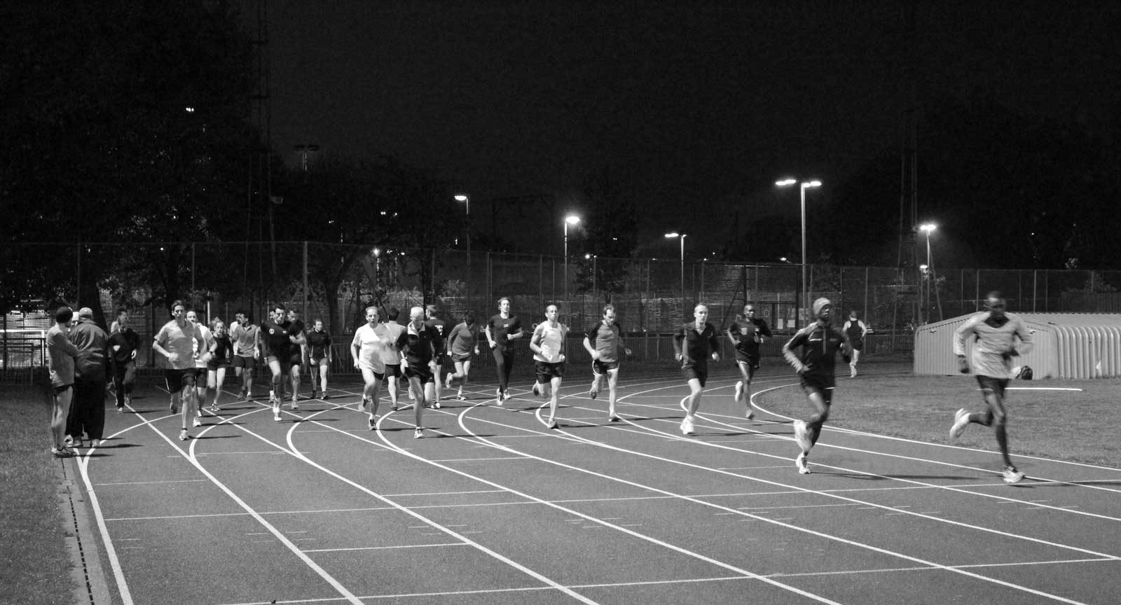 The Running Works Tuesday track sessions at Mile End Stadium